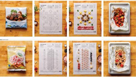 Cook this page, las recetas de cocina de Ikea que parecen manuales para montar muebles