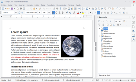 Libre Office Writer Procesamiento Texto