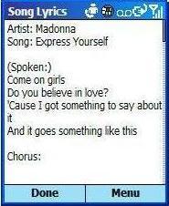 smsTunes, descarga las letras de las canciones