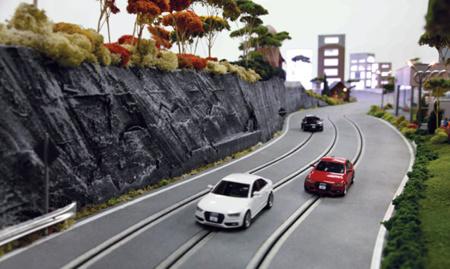 Scalextric de Audi controlado por iPad con cámara en primera persona, velocímetro y otras chuladas
