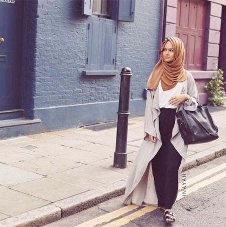 hijabista look calle