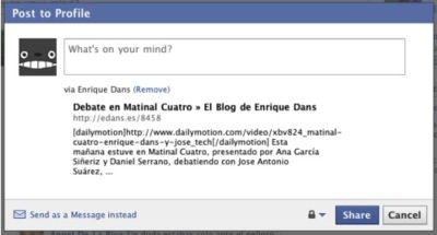 Facebook implementa su propio retweet