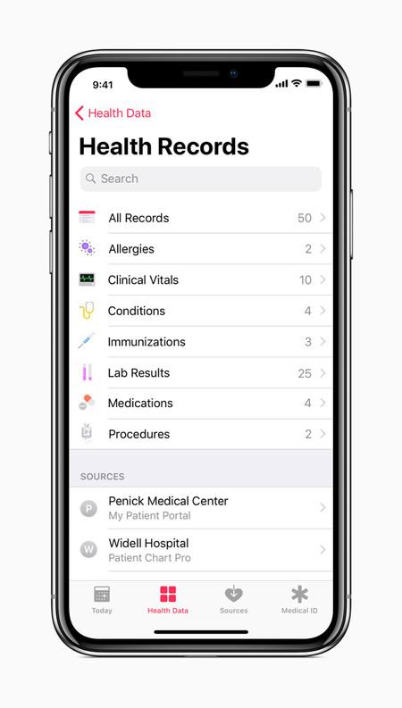 Iphone X Apple Health Records Screen 01232018