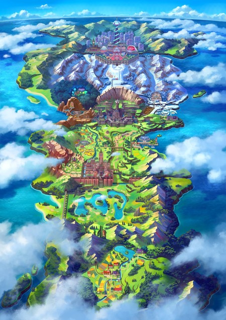 Pokemon Espada Pokemon Escudo Region Galar