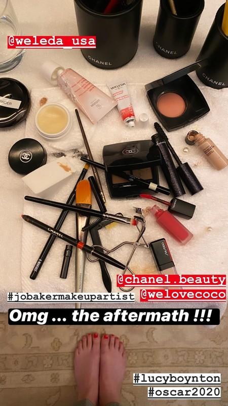 lucy boynton maquillaje oscar 2020