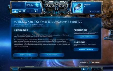 Starcraft II Menu