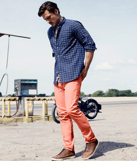 H&M pantalon naranja