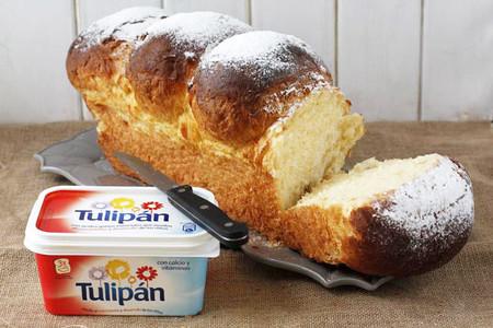 Receta de brioche esponjoso con margarina Tulipán