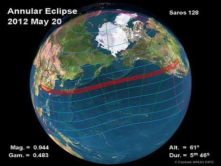 Las mejores fotografías del eclipse anular de sol de 2012