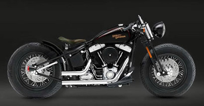 Harley Davidson Softail Cross Bones Custon rizando el rizo