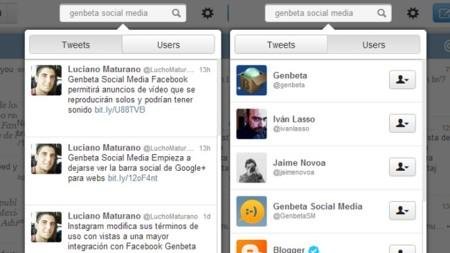 Tweetdeck mejora su búsqueda en la versión para Chrome eliminando la ventana de resultados