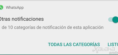 WhatsApp estrena canales de notificación en Android Oreo: así puedes configurarlo