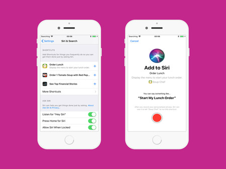 Siri Shortcuts en los Ajustes del iPhone