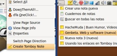 Tomfox: crear nuevas notas de Tomboy directamente desde Firefox