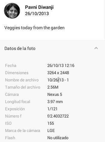 Exif Nexus 5