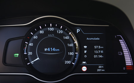 Hyundai Kona eléctrico panel digital