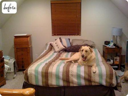 Antes y después: el dormitorio de Georganne