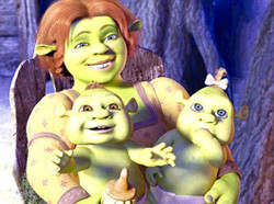 Shrek y Fiona tienen bebés