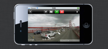 Live Street View para iPhone en iOS 6