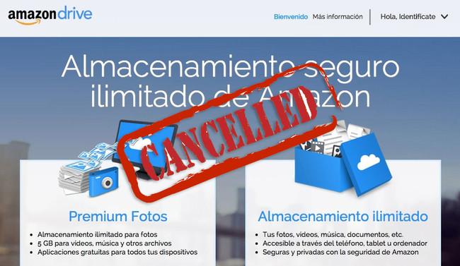 Amazon Drive Ilimitado Cancelado