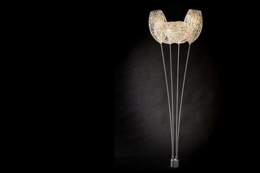 Lámparas Canopy de Alex Buckman impresas en 3D que flotan en el aire