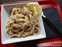 Spaghetti al limón. Receta