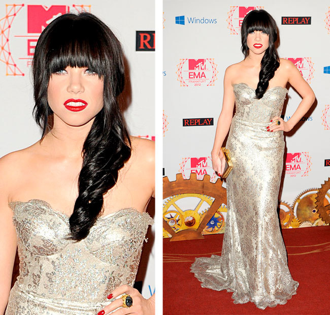 Carly Rae Jepsen MTV EMASS 2012