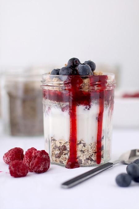 Muesli con yogur y semillas
