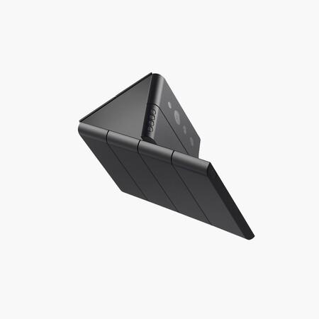 OPPO muestra un diseño bastante loco de móvil plegable: con dos bisagras y más posibilidades de pantalla
