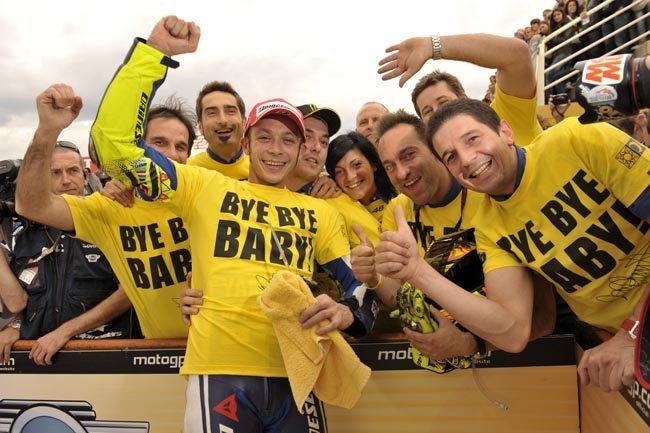 Valentino Rossi depedida de Yamaha