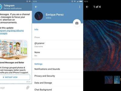 Telegram 4.5: probamos los álbumes de fotos, mensajes guardados y la búsqueda mejorada