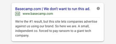 """Los anuncios en Google son una """"estafa"""" y un """"chantaje"""" para Basecamp: """"No queremos poner este anuncio"""""""