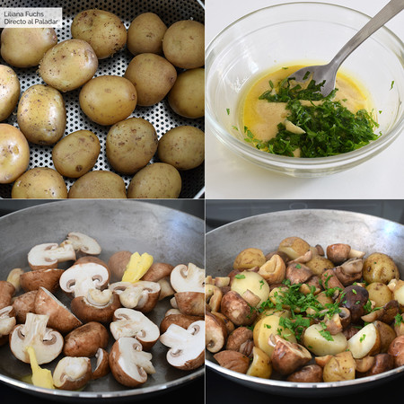 Patatas con setas