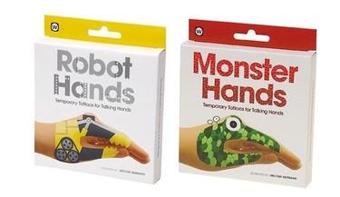 Calcomanías para jugar con las manos