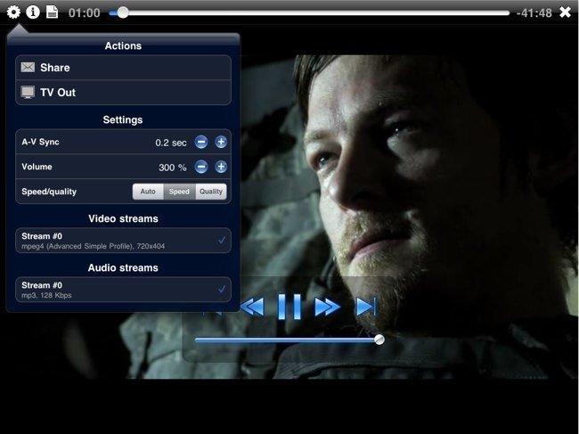 Pantalla de inicio con instrucciones de VM Player HD
