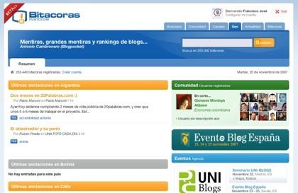 Bitacoras.com se lava la cara