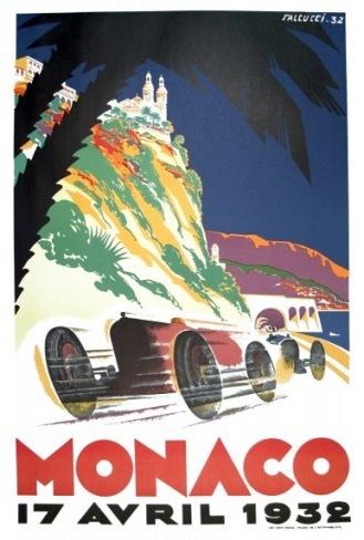 Poster Original Grand Prix Monaco 1932