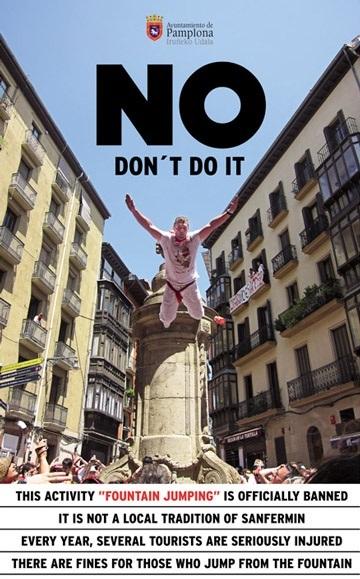 Pamplona lanza una campaña para evitar el fuenting