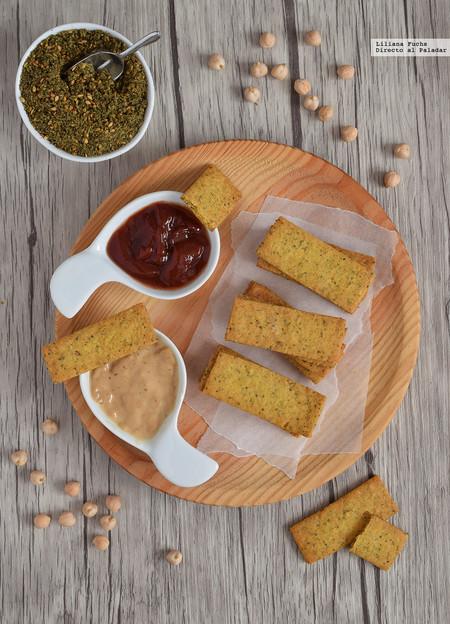 Crackers crujientes de garbanzo y zaatar. Receta sin gluten vegana para el aperitivo
