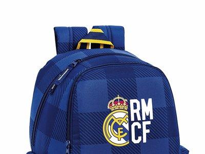 "Vuelta al cole: mochila grande Real Madrid ""Blue"" adaptable a carro por 36,88 euros con  envío gratis en Amazon"