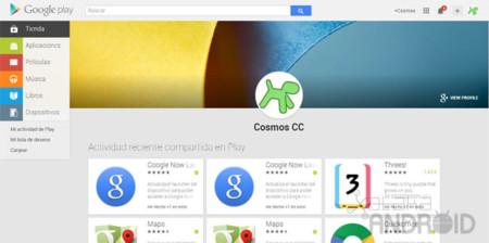 La web de Google Play ya nos permite consultar nuestra actividad y la de otros usuarios