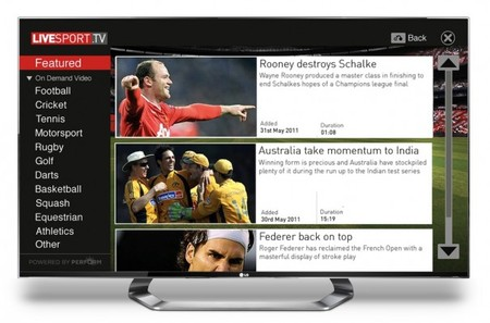 Livesport.Tv, la aplicación de LG para ver deporte bajo demanda en tu Smart TV