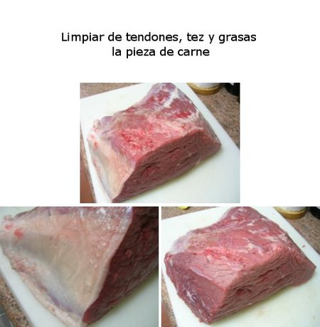 Limpiar carne
