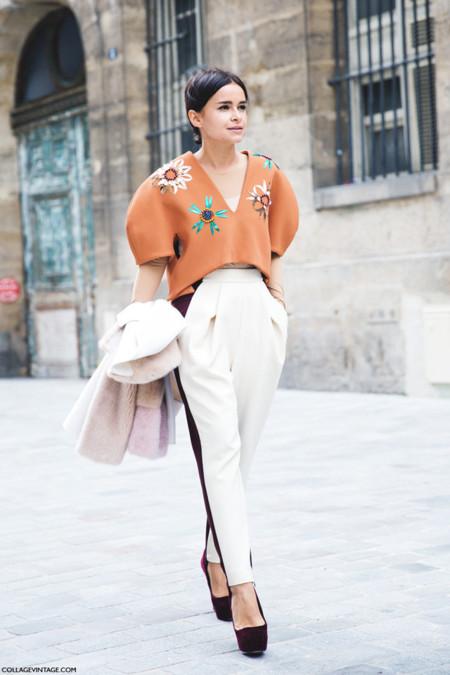 Street style Semana de la Moda de París Marzo 2014 Miroslava Duma Delpozo