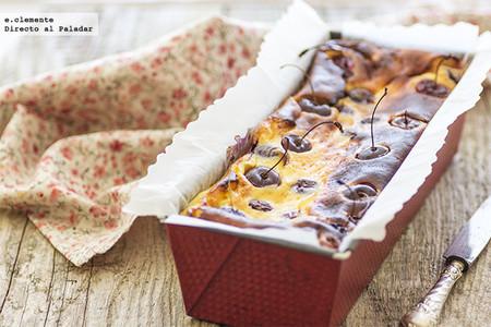 Cake de queso y cerezas. Receta