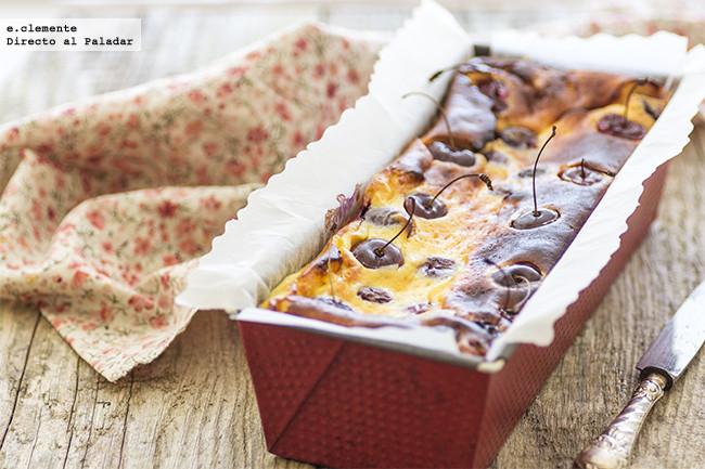 Cake de queso y cerezas