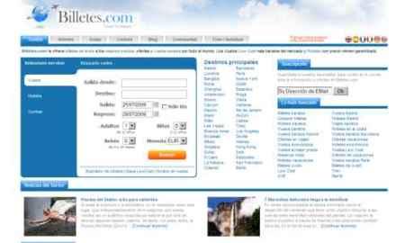 Billetes.com, nueva opción para la búsqueda de vuelos, hoteles y coches