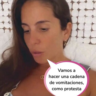 Anabel Pantoja le pide a Omar El Negro que la grabe vomitar en directo para denunciar la mala praxis del médico de urgencias que la atendió tras su boda