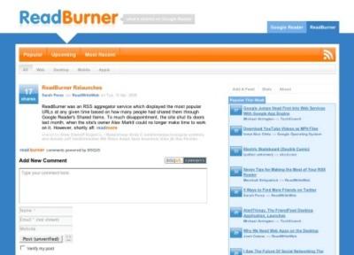 Readburner vuelve a la vida