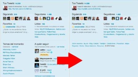 Oculta en Chrome los usuarios recomendados y los temas del momento de Twitter